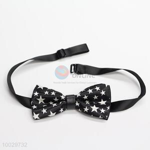 Cute black bow tie with star pattern for children