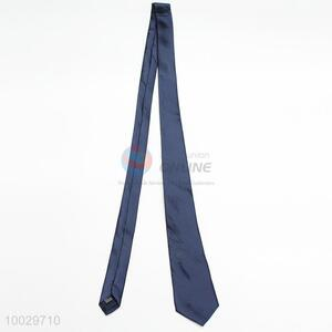 Dark blue polyester neck tie for men