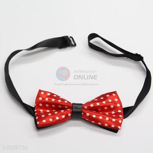Children 2-layer red dot pattern bow tie