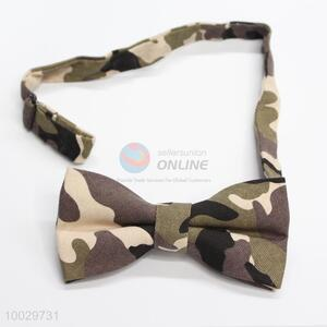 Casual style camouflage pattern bow tie
