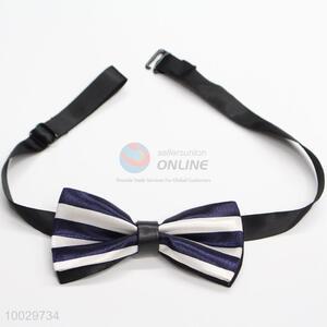 Children strip pattern bow tie