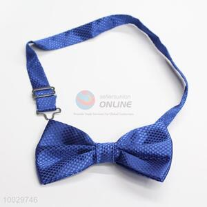 Adjustable blue bow tie