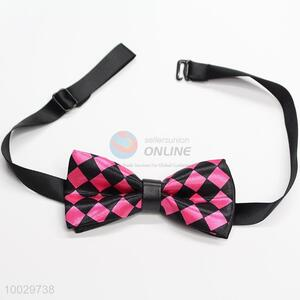 Children plaid pattern bow tie