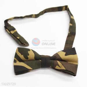 Decorative camouflage pattern men bow tie