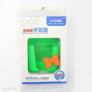 Functional car silica gel green cell phone holder