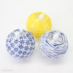 Blue flower pattern  cloth lantern