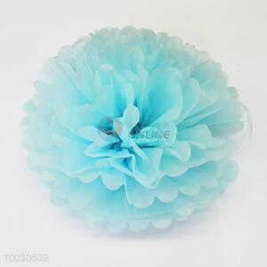 Holiday decoration 15 inch blue ball-flower