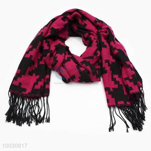 Wholesale Rose Pink Wool Spinning Scarf