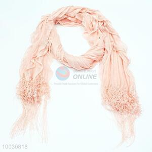 Wholesale Tassels ALL Pink Dacron Scarf