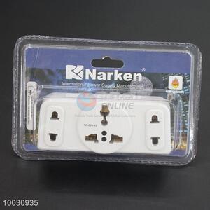 White global plug converter power adapter