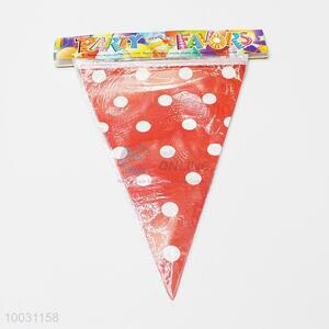 Dotted Paper&Nonwoven Fabric Pennant