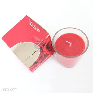 Facotry wholesale red scented wax candles with cup