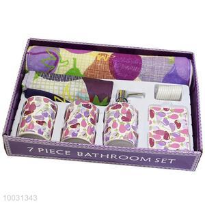 Wholesale hotel/home 7pcs ceramic bathroom sets