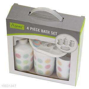 4pcs plastic bathroom sets for gift