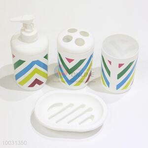 Hot design 4pcs plastic bathroom set wholesale