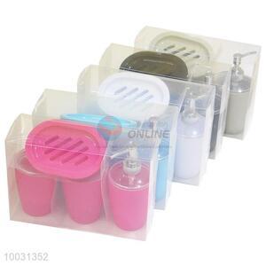 Wholeasle 4pcs/set colorful plastic bathroom sets