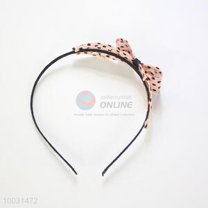 Cute dot pattern bowknot hair band/hair clasp