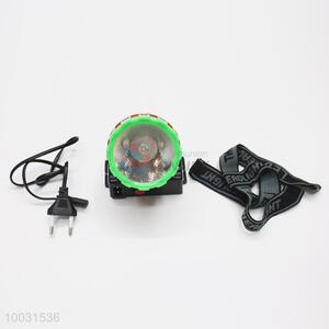 7*5.5*7cm Super Quality Green&Black High Bright Long Life Rechageable LED Head Lamp