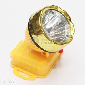 6.5*6.5*7.3cm Yellow Popular LED Battery Head Lamp