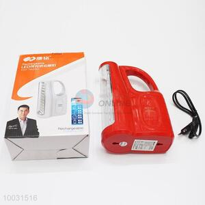 Hot Sale Red Rechageable Portable Emergency LED Lamp/Light