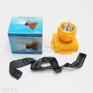 5.5*6*6.5cm Wholesale Yellow LED Battery Head Lamp