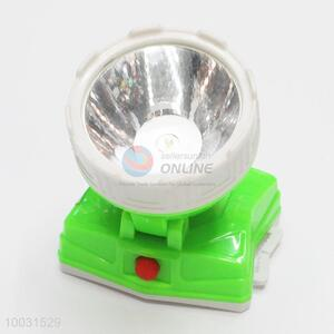 7*6*7cm White&Green LED Battery Head Lamp