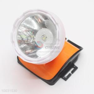 6*7*6.5cm White&Orange Wholesale LED Battery Head Lamp
