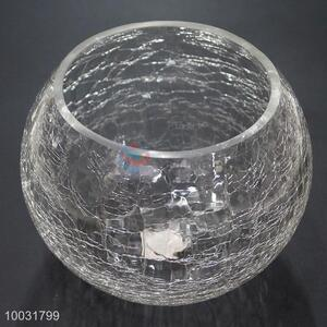 Ice Flower Round Ball Shaped Candle Holder