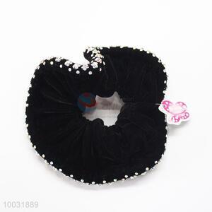 High quality lady black diamonds velvet hair bands