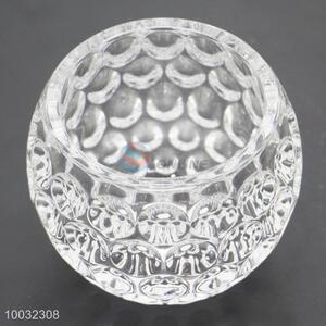 Round Bowl Shape Crystal Candle Holder