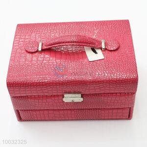 Wholesale pu red multilayer jewelry display case