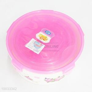 5pcs/set round plastic printed food container