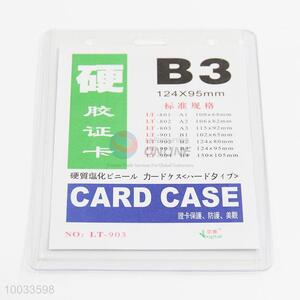Waterproof B3 pvc card case id card holder
