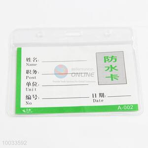 Plastic waterproof clear soft plastic id card holders