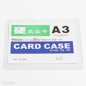 Clear A3 pvc plastic card case id card holder