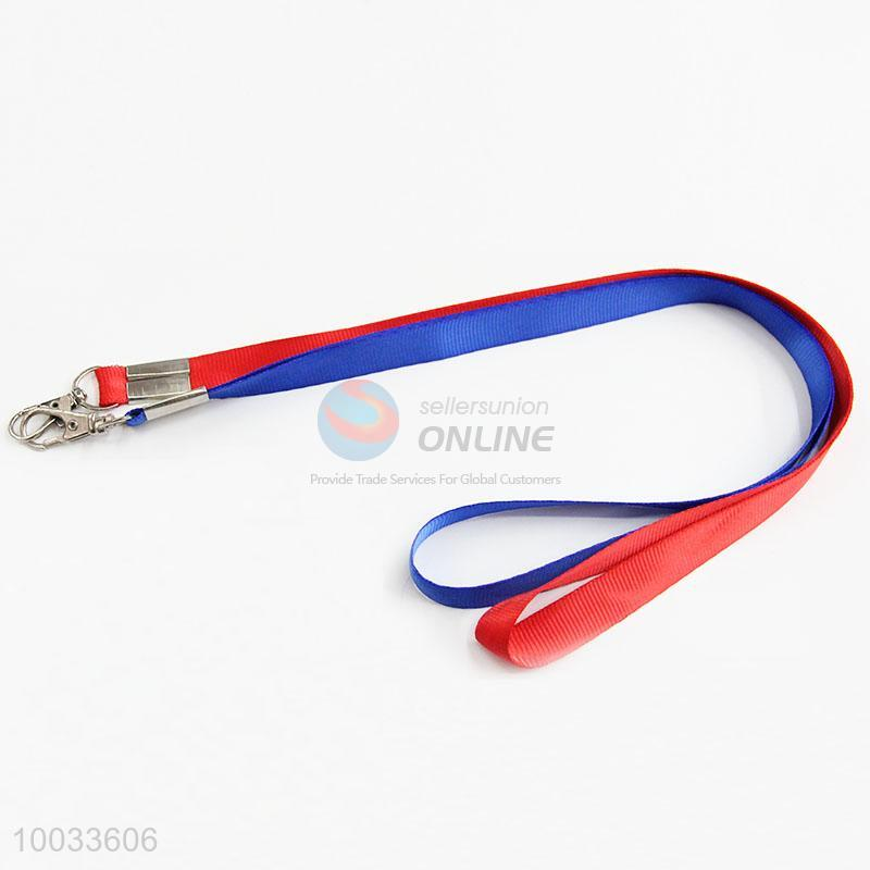 Wholesale cheap blue/red neck microsoft card lanyards