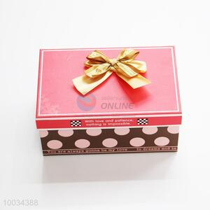 Hot Selling 3 Pieces Pink Gift Box/Packing Box