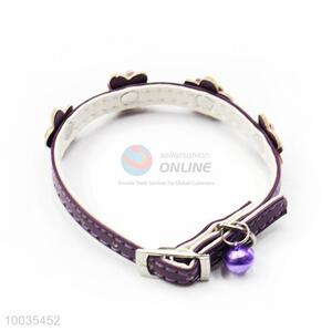 Purple PU Pet Collars/Leashes