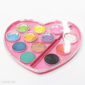 Heart Shaped 12 Colors Pressed Watercolor Set