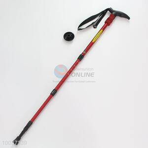 Red aluminumhiking cane/walking stick