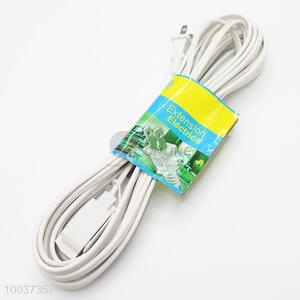 White 1.8m American Style Socket Extension Cord