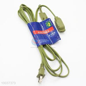 Green 1.8m American Style Socket Extension Cord