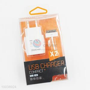 1A white color chargers&usb cable(1m) for iphone 4