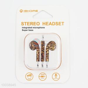 Sexy leopard super bass integrated microphone painting stereo headset