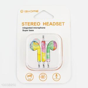 Art painting super bass integrated microphone stereo headset
