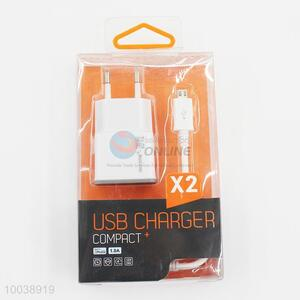 1A usb charger+usb cable(1m) for samsung