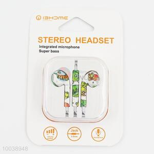 Lovely super bass integrated microphone painting stereo headset