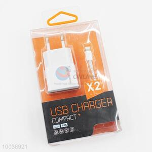 1A usb charger+usb cable(1m) for iphone 6