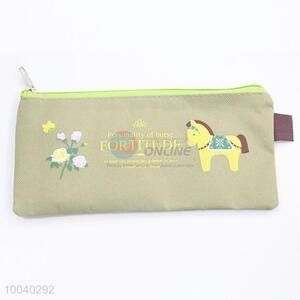 Factory wholesale cotton&jute coin purse change purse pen bag