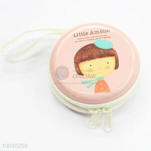 Creative fashion round tin coin purse